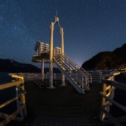 It was a cold night at Porteau Cove Provincial Park with some strong wind on this evening. This tower by the pier make a good subject against the dark night sky. You can see my buddy on the second level taking some shots from up there! Have a great night!