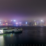 It is my favourite transportation of choice in Hong Kong. Stars Ferry connect Tsim Sha Tsui and Central District in a very short time while you can enjoy both side of the views. Fog covering half of the IFC building on the other side. Been really enjoying shooting under foggy weather.