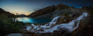 Twilight at Upper Joffre Lake Provincial Park, BC, Canada. A 6 images combined panorama. Hope you enjoy it!