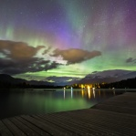 Great night out by the dock at Rainbow Park in Whistler with gorgeous light show. Have a great night!