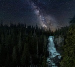 The beautiful milky way connected with the waterfalls on earth! Unfortunately, it is a man-made connection because it is a composite image from 2 different shots taken from different time and different locations. After my first visit to this waterfalls knowing the direction will never meet the milky way galactic core, I decided to use one of my old milky way shot and try a composite with these crazy treeline. And quite happy with it! Although it is not actually taken at the spot, I'm quite happy with the result! And I hope you enjoy it!