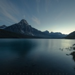Twilight at Waterfowl Lake before night falls. Arrived before dark to look for some composition and wait for the stars to fade in. Took this a little more than an hour after sunset. Hope you enjoy!