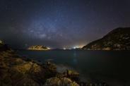 Milky way above Shek O on the southeast side of Hong Kong Island