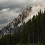 Cloudy afternoon at Kananaskis Country, a closer look at one of many gorgeous mountains along the Kananaskis Trail (Highway 40)!