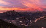 One of the most amazing sunset I've seen from a few years back on a trip to Banff. Taken from the Sulphur Mountain
