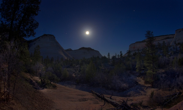 Moonlit, Twilight, Morning