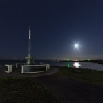 Moon lit over Garry Point Park on a strry night. Have a great day!