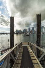 Have you been on the False Creek Ferries before? This is one of the dock underneath the Cambie Bridge on the south side of the bridge. One of those beautiful cloudy afternoon Vancouver usually have in between the rain! Where all the best moments are!! Have a great day!