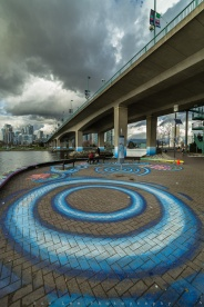 Cloudy afternoon at False Creek under the Cambie Bridge. Have a great day!