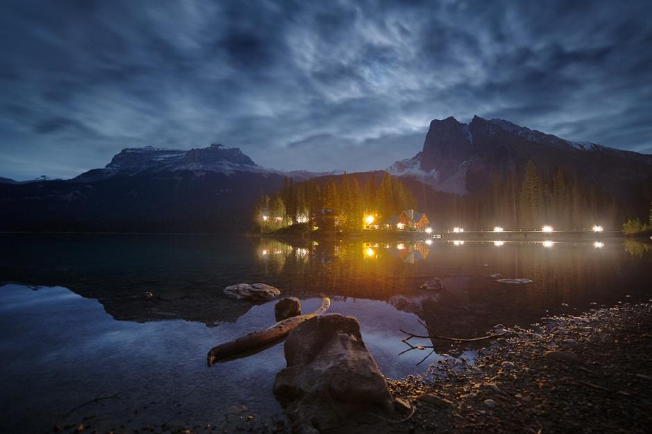 Emerald Night Reflection