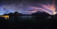 Lake Minnewanka Night Pano
