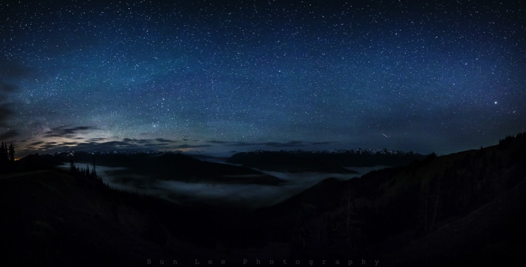 Hurricane Ridge Night Fog
