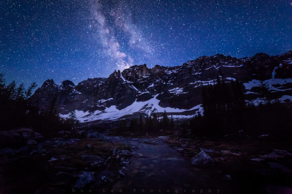Another stop I made during the night hike on the Opabin Plateau, Yoho National Park, British Columbia, Canada
