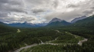 Cloudy day in Kananaskis Country, Alberta, Canada.