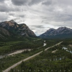 Aerial view of Kananaskis Trail or simply called it highway 40. You can see Mount Lorette Ponds on the right side of the highway. Have a great day!