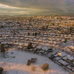 Couple of snow storm hit Vancouver making the entire town turned into white. Great opportunities to get a view from above with these nice orange glow shinning on the white snow! Hope you enjoy and have a great day!