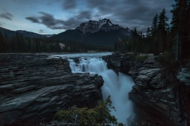 Twilight at Athabasca Falls in Jasper National Park, Alberta. Got there an hour or so after sunset hoping to shoot some night shot at the falls. But the weather didn't cooperate as it started to rain short after I took this last few shots from this evening. And I'm glad I did make it out for these few clicks after a long drive to this location. Thanks for your visit and I hope you enjoy it!