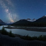 A great night capturing some astro lapse sequence at the Tangle Ridge viewpoint along the Icefield Parkway. This was digital blended with 2 different exposure. One for the foreground and the other for the background. Hope you enjoy it!