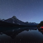 Great night at Waterfowl Lake doing my thing capturing the beautiful night sky. And that's the other camera capturing some timelapse on this starry night!