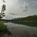 Overcast sky at Herbert Lake, passed by many times and finally make a stop on my last trip to the Rockies!