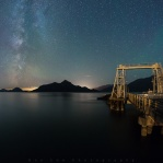 Milky way above Anvil island and some green airglow on the right. A beautiful night at Porteau Cove. Have a great night!