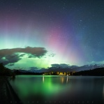 It has been many Aurora activity lately, but we still kept getting the usual weather of rain and cloudy in Vancouver. Without any luck to get out for some night sky beauty. I have to stay home digging through some of my old photos. Come across this panorama I missed from May 2016. One of the best Aurora night I had over the years. It was just right in Whistler, British Columbia. Hopefully to have some clear sky with some colorful night beauty again soon! Hope you enjoy this and have a great night!