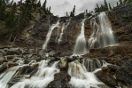 Tangle Falls located along the side of Icefield Parkway in Jasper National Park is sure a playground for photographer that love waterscape. I would have spending way more time here if it wasn't stating to rain...