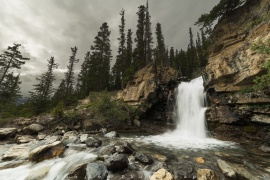 Another cloudy waterscape taken at Tangle Falls along the Icefield Parkway. Have a great weekend!!