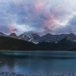 Lovely sunset at the Upper Kananaskis Lake with Mount Sarrail in the back. Have a great day/night!