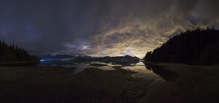 Stave Lake Night Pano
