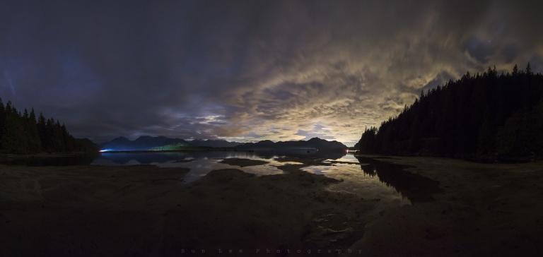 Stave Lake Night Pano
