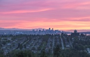Downtown Vancouver as seen from Burnaby on this lovely sunset lights! Have a great day!