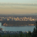 Iconic view of Vancouver at sunset time. Have a great day!