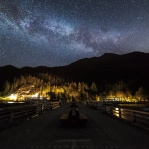 Single exposure shot of the pier at Porteau Cove. Although it is a place I shoot a lot at night time, but as the season change, locations of the night sky are different. The milky way were right behind the mountain on this night! How do you like it against the pier?