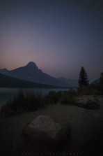 Taken a week ago on the Icefield Parkway at Waterfowl Lake. Hopefully the rain will stop the fire soon...