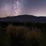A composite shot taken from a grapes field in Osoyoos, British Columbia with milky way above. Hope you enjoy!