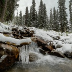 A lovely morning on my way up to the Opabin Plateau in Yoho National Park. I was lucky to get the last campsite spot to see this beautiful place covered in snow!